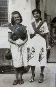Sylvia Fein (l) and Charmin Schlossman, Mexico City, ca 1944. Photo courtesy of Sylvia Fein.