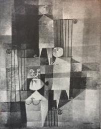 Nicolas Muzenic. ca 1953. Escalera.