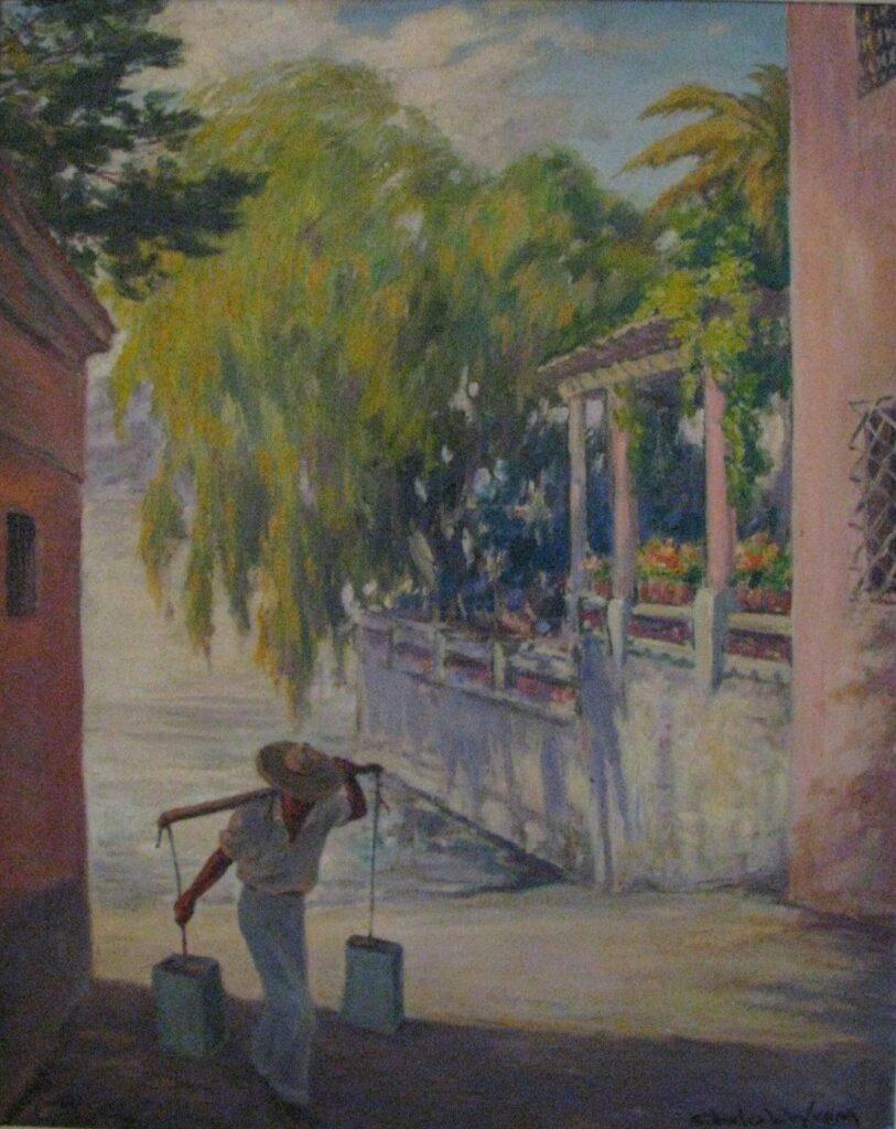 Charles L. Wrenn: Water Carrier, Lake Chapala