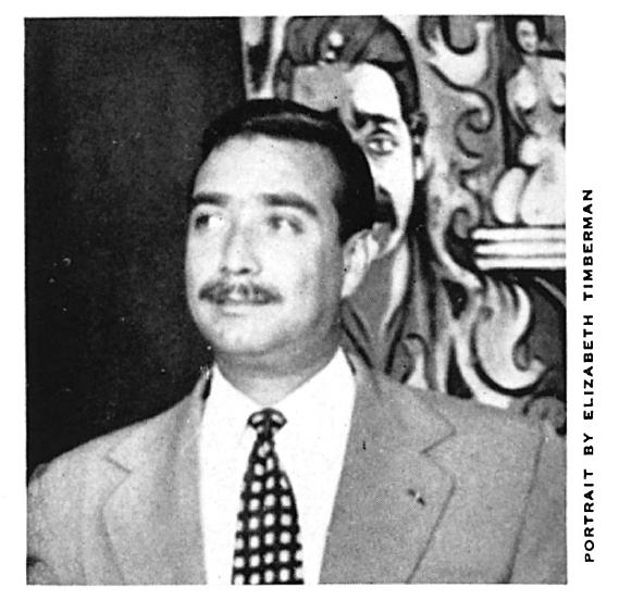 Portrait of Jaime Lopez Bermudez, ca 1951, by Elizabeth Timberman.