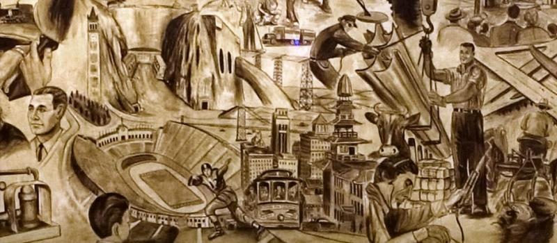 Alfredo Santos: detail from murals in San Quentin Prison
