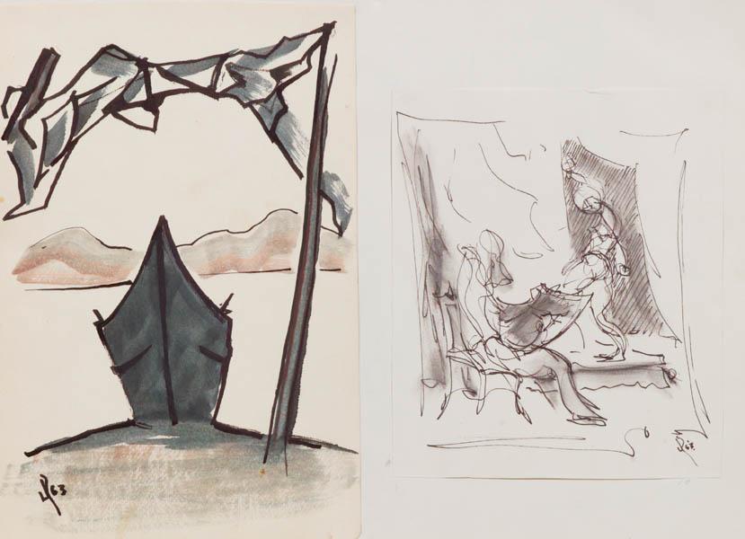 Jack Rutherford. Ajijic Sketch (ca 1963)