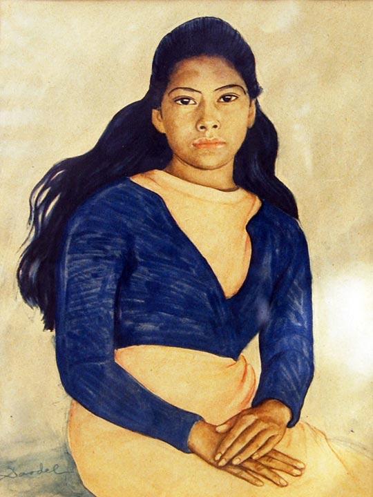 Nils Dardel. ca 1940. Mexican girl (2).