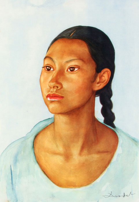 Nils Dardel. ca 1940. Mexican girl.