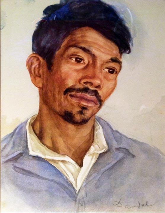 Nils Dardel. ca 1940. Mexican man.