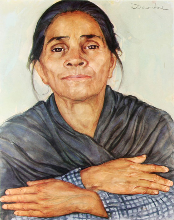 Nils Dardel. ca 1940. Mexican woman.