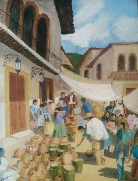 Jean Caragonne. Market.