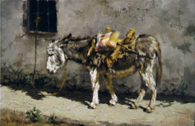 Clark Hulings. Undated. Pancho-Ajijic donkey.