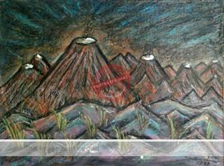 Gustavo Sendis: Volcán. Credit: Galería Vértice.