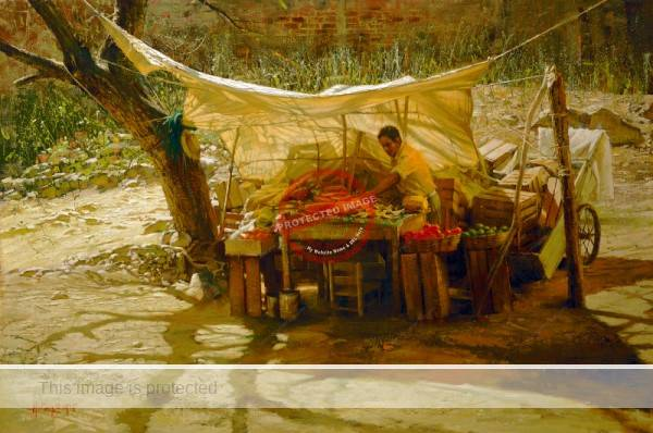 Clark Hulings Chapala Fruit Vendor