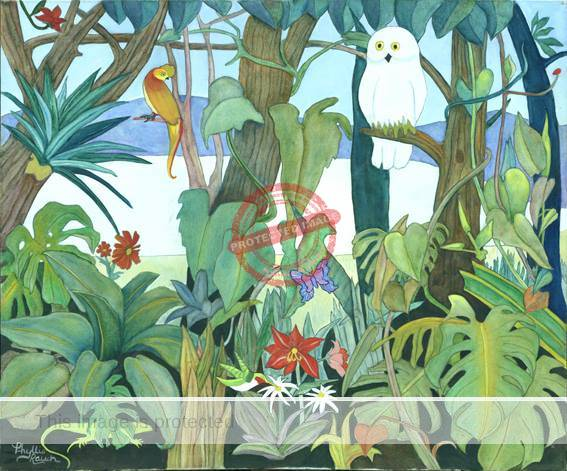 Phyllis Rauch. Rousseau-inspired jungle scene. Photo reproduced courtesy of the artist.