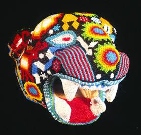 Jack Weatherington: Huichol mask. Photo reproduced by kind permission of Mexconnect.com
