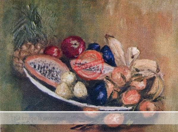 Lona Isoard: Still Life with Fruit. (ca 1972)