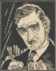 Emil Armin. Self-portrait (1928), woodcut