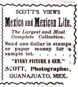 Early advert for Scott's Views