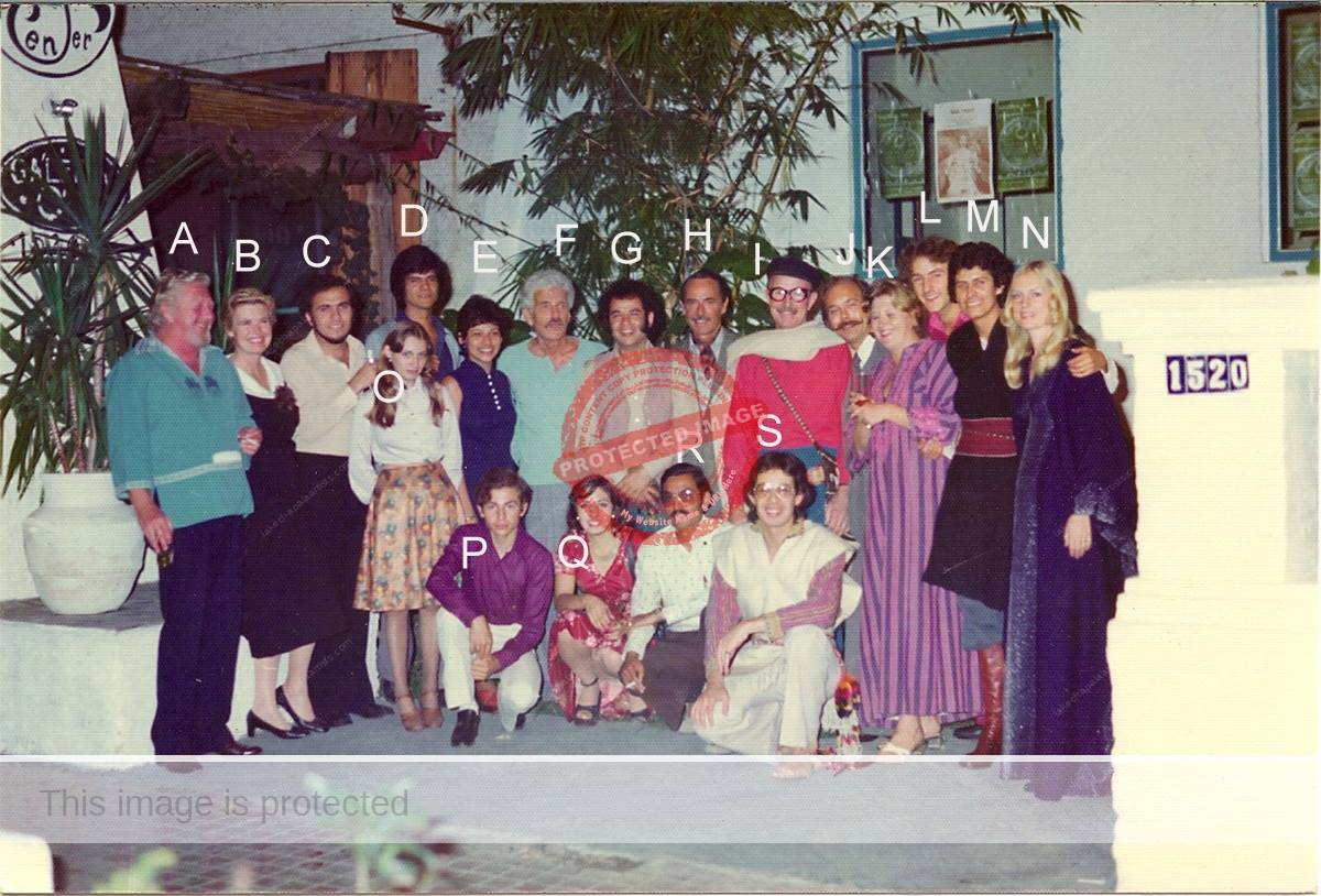 Clique Ajijic artists at opening of show at Galeria OM, November 1975
