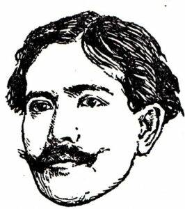 Sketch of Ruben Campos by Julio Ruelas.