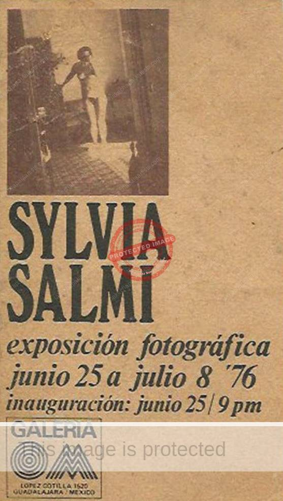 Ad for Sylvia Salmi exhibit, 1976