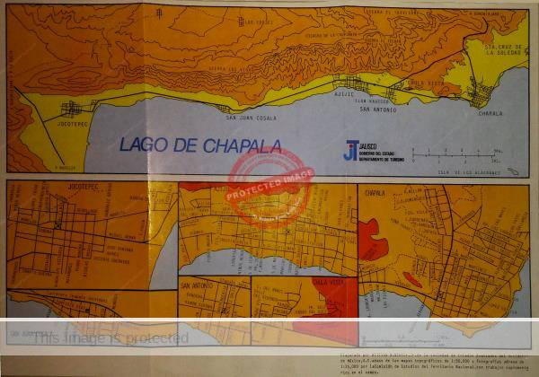 William Winnie Jr. Maps of Lake Chapala area, ca 1970
