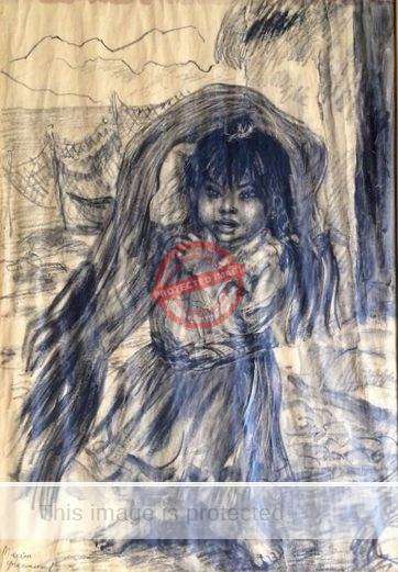 Marion Greenwood. 1969. Chapala girl. (damaged drawing - best available illustration)