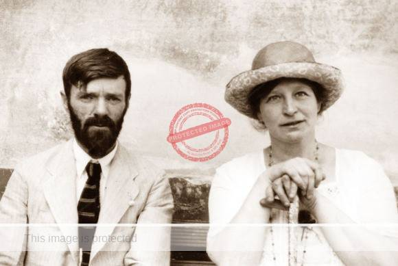D. H. Lawrence and his wife Frieda, Chapala, 1923