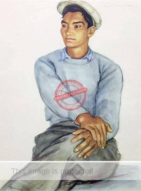 Nils Dardel. ca 1940. Mexican boy. (2)