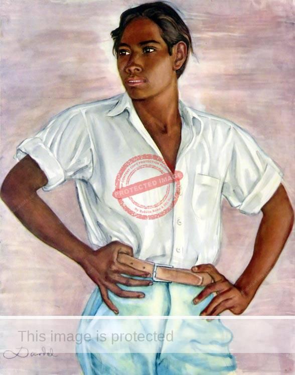 Nils Dardel. ca 1940. Mexican boy.