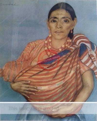 Nils Dardel. ca 1940. Mexican lady.