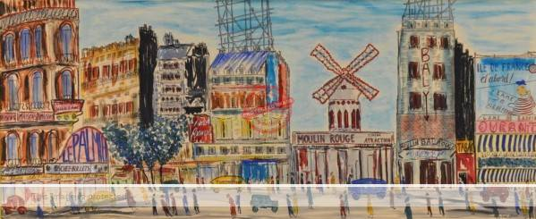 Todd Karns. Moulin Rouge. (sold 2012 at Capo Auction)