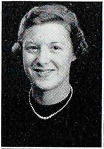 Gail Hayes. 1955. (University Yearbook photo)