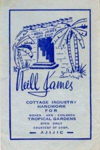Neill James' store label