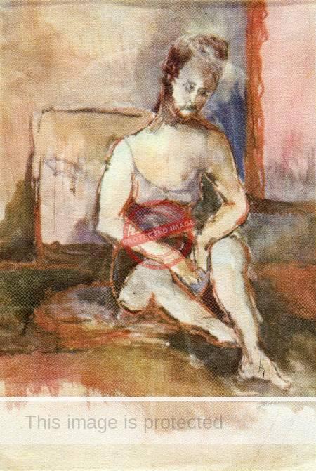 """Tom Faloon. ca 1972. """"La Mujer"""""""