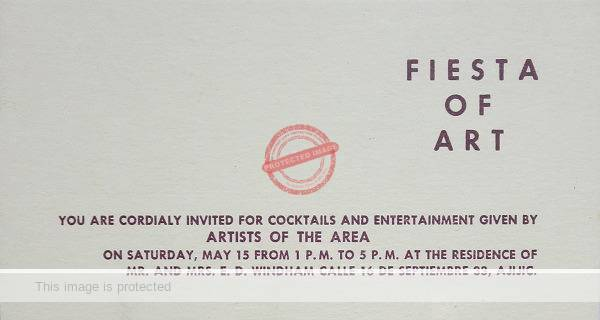 Invitation card for Fiesta de Arte