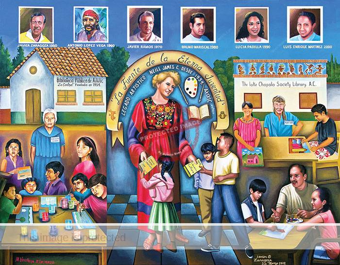Javier Zaragoza and Jesús López Vega. 2012. Children's Art Program mural, Lake Chapala Society.