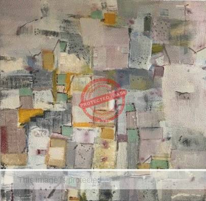 An example of Stanley Sourelis' encaustic art.