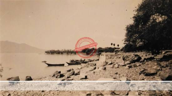 Lake Chapala, ca 1941. (Photo from Johnsons' photo album, in collection of author); all rights reserved.
