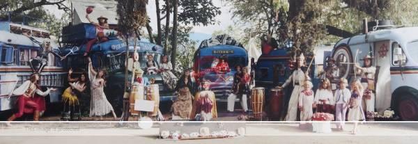 John Frost. c 1983? Elefantes iluminados visit Ajijic.