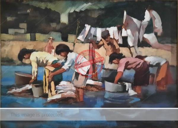 Michael Fischer. c 1993. Laundry in Lake Chapala. Credit: Tony Burton, all rights reserved.