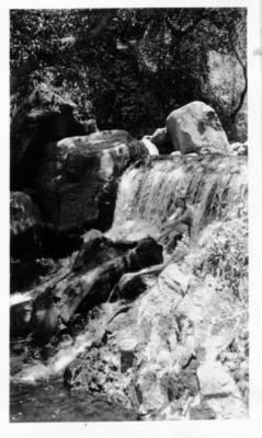 Herbert Johnson. c. 1943. Tzararacua Falls, near Uruapan?