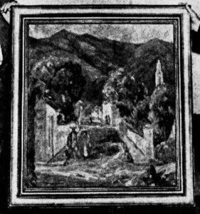 "Irma Rene Koen. c 1945. ""Street in Ajijic."""