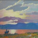 Clarence Ainslie Loomis painted Ajijic in the early 1990s