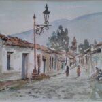 Margaret Van Gurp painted Jocotepec in 1983