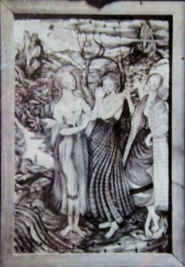 Sylvia Fein: Three Ladies. ca 1945.