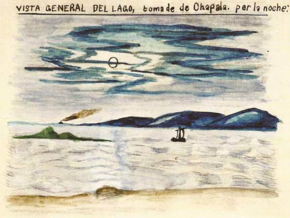 Francisco González Ruvalcaba. Vista General, Chapala. c 1882.