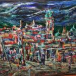 Chicago painter Harry Mintz (1907-2002) was a regular visitor to Lake Chapala during the 1970s and 1980s