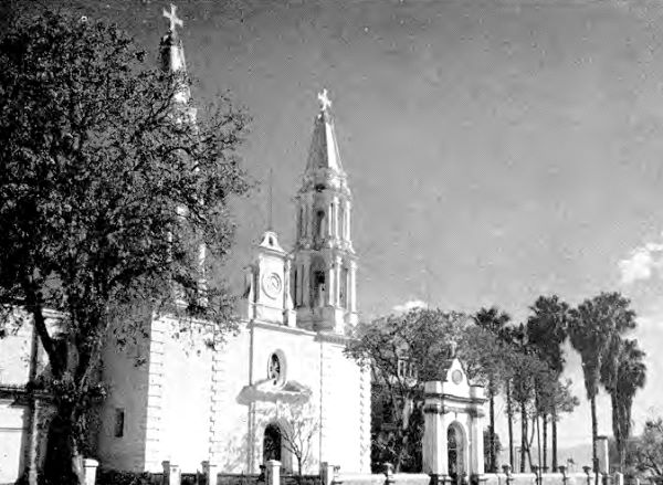 Herb McLaughlin. c. 1950. Church at Chapala.