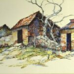 Albert Alfredson painted at Lake Chapala in the early 1950s