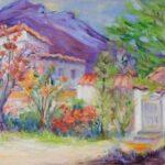 "Jan Sullivan painted her plein air ""Lakeside Life"" near Ajijic"