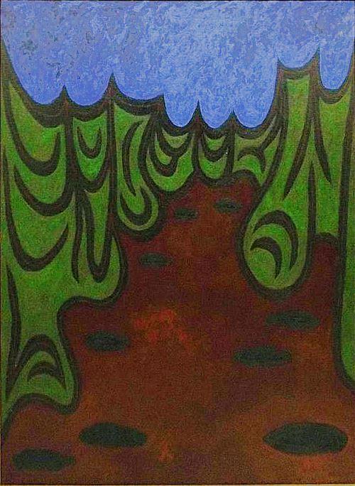 Stanley Twardowicz. 1951. (Oil on canvas) Fish Nets (Ajijic). Credit: Berner's Auction Gallery, Ohio