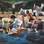 Hungarian-Canadian artist Michael Fischer painted Lake Chapala in the 1990s